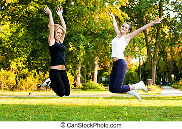 recreational exercise in nature, fresh air