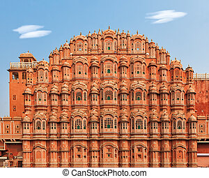 Hawa Mahal, Palace of the Winds in India - Facade of Hawa...