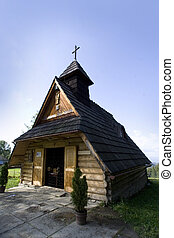 Small wooden Church in Zakopane tatra Mountains