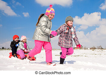 winter games in the snow