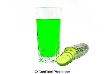 Cucumber juice and vegetable