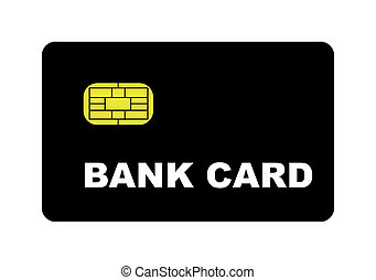 Blank Bank Card - Blank bank card with biometric strip,...