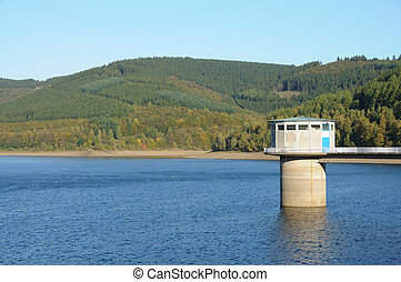 Drinking water reservoir in North Rhine-Westphalia, Germany