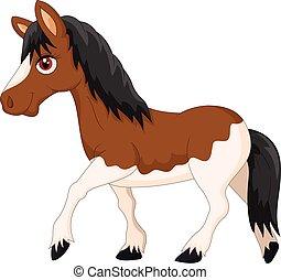 Cartoon pony horse - Vector illustration of Cartoon pony...