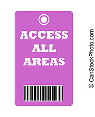Access all area pass