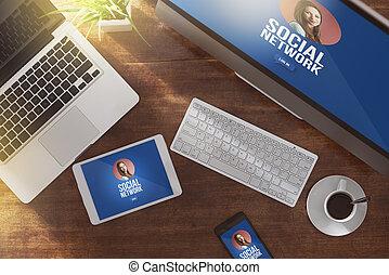 profil,  girl, réseau,  Social