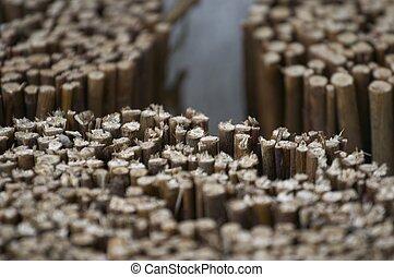 Straw fence