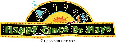 Happy Cinco de Mayo Banner - Mexican art style Cinco de Mayo...