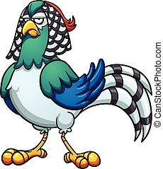 Lady Pheasant - Cartoon Lady pheasant. Vector clip art...