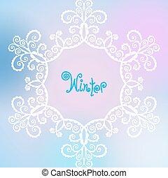 vector winter pattern of spirals, swirls, chains
