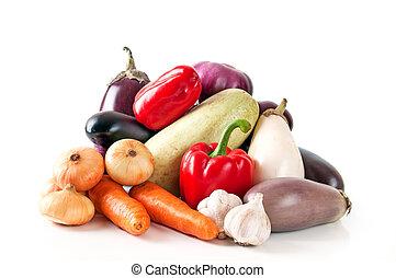 蔬菜, 白色, 背景, 多樣混合
