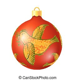christmas decoration ball - hand drawn illustration in...