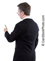 Adult Man Thumbs Up - businessman with thumbs up gesture...