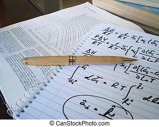 pluma, ecuaciones