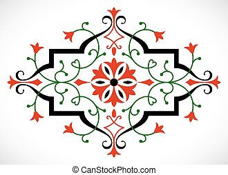 Vector baroque ornament in Victorian style. - Baroque...