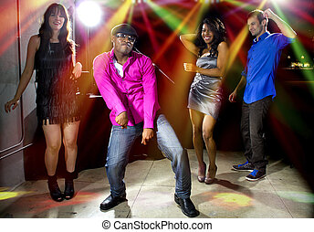Life of The Party - cool people dancing in a nightclub or...