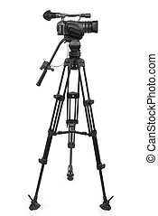 Production Camera - production camera on a tripod and...