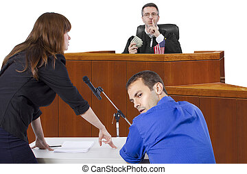 Dirty Trial - corrupt judge taking bribe in an unfair...