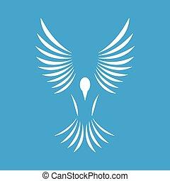 Bird white icon