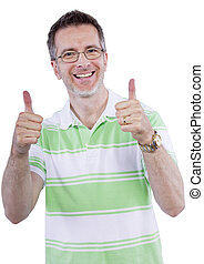 Adult Man Thumbs Up