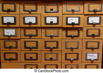 card catalog in a library