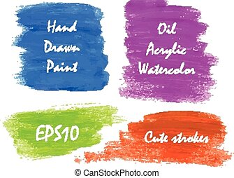 Watercolor bright colors banners for web commercial. Vector...
