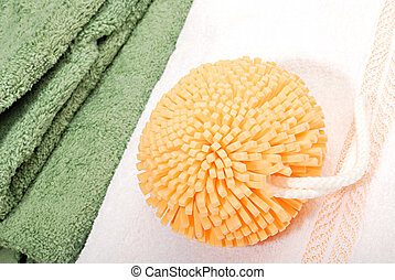 bath sponge Nature relaxation - orange bath sponge Nature...
