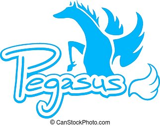 Blue pegasus - Creative design of Blue pegasus