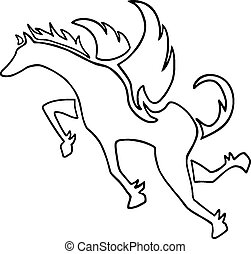 Pegasus symbol - Creative design of Pegasus symbol