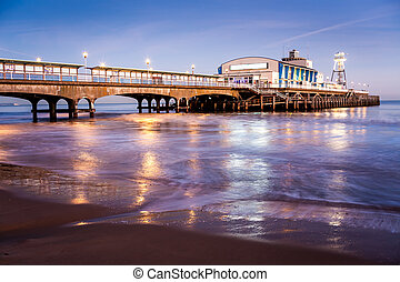 Bournemouth Pier at night Dorset - The lights of Bournemouth...