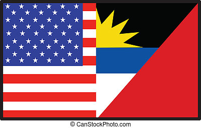 America Antiqua Barbuda Flag - A flag that\'s half American...
