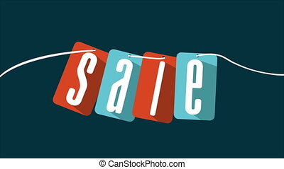 Sale, Video animation - Sale labels, Video animation, HD...