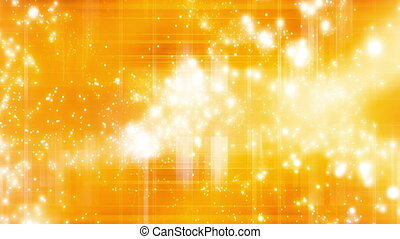 Yellow Orange Particle Abstract