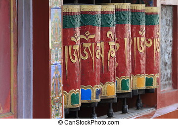 Buddhism Mantra of Dharamsala in India