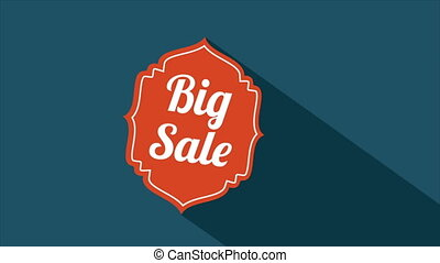 Big sale, Video animation - Big sale label, Video animation,...