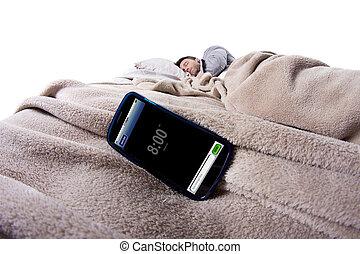Cell Phone Alarm Clock - alarm clock on a digital cell phone...