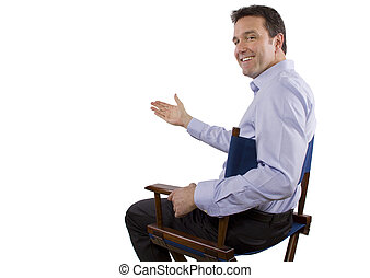 Casting Director - male casting director sitting on a...