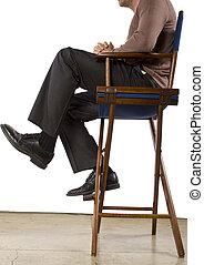 Hollywood Producer - low crop of sitting Hollywood producer...