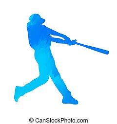 basebol, jogador,