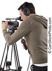 cámara, operador,