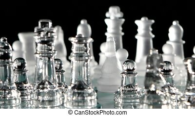 Course of glass chess piece