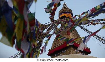 Bouddhanath stupa in Kathmandu, Nepal.