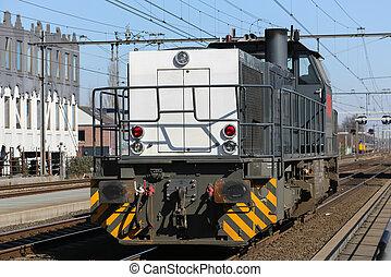 Locomotief op het spoor, Amersfoort - rangeer locomotief op...