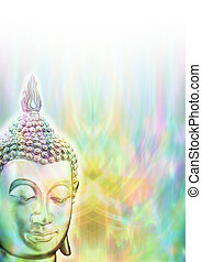 Budhha Mindfulness Meditation - Budhha head on left side...