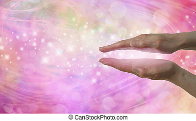 Energy Entrainment website banner - Female hand positioned...