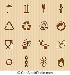 Packing and logistic vector icons - Packing and logistic...