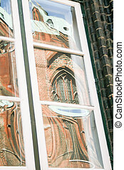 Church in the window