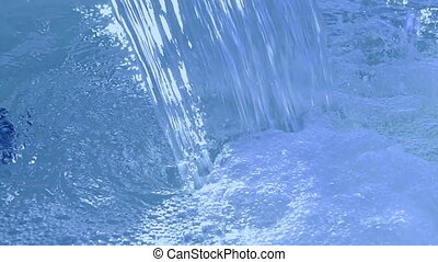 blue waterfall closeup, water diversity, climate diversity
