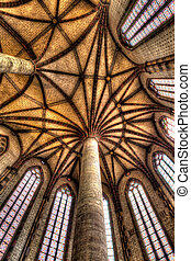 Palm Tree ceiling in the Church of the Jacobins