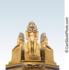 Faraoner, statyett, closeup.,